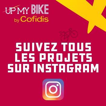 Suivez les projets UP MY BIKE sur Instagram, le projet de financement de vos projets VELO par COFIDIS
